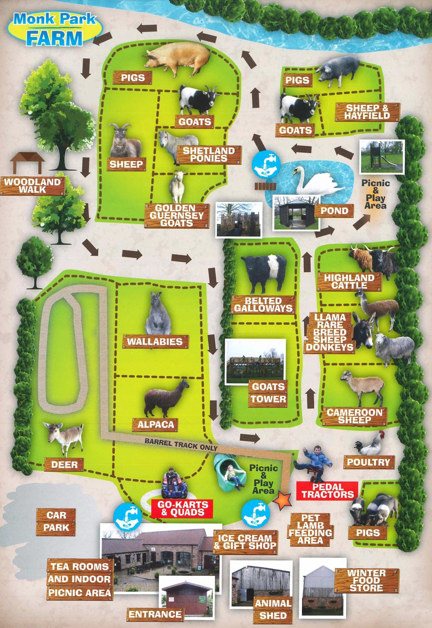 Monk Park Farm Map