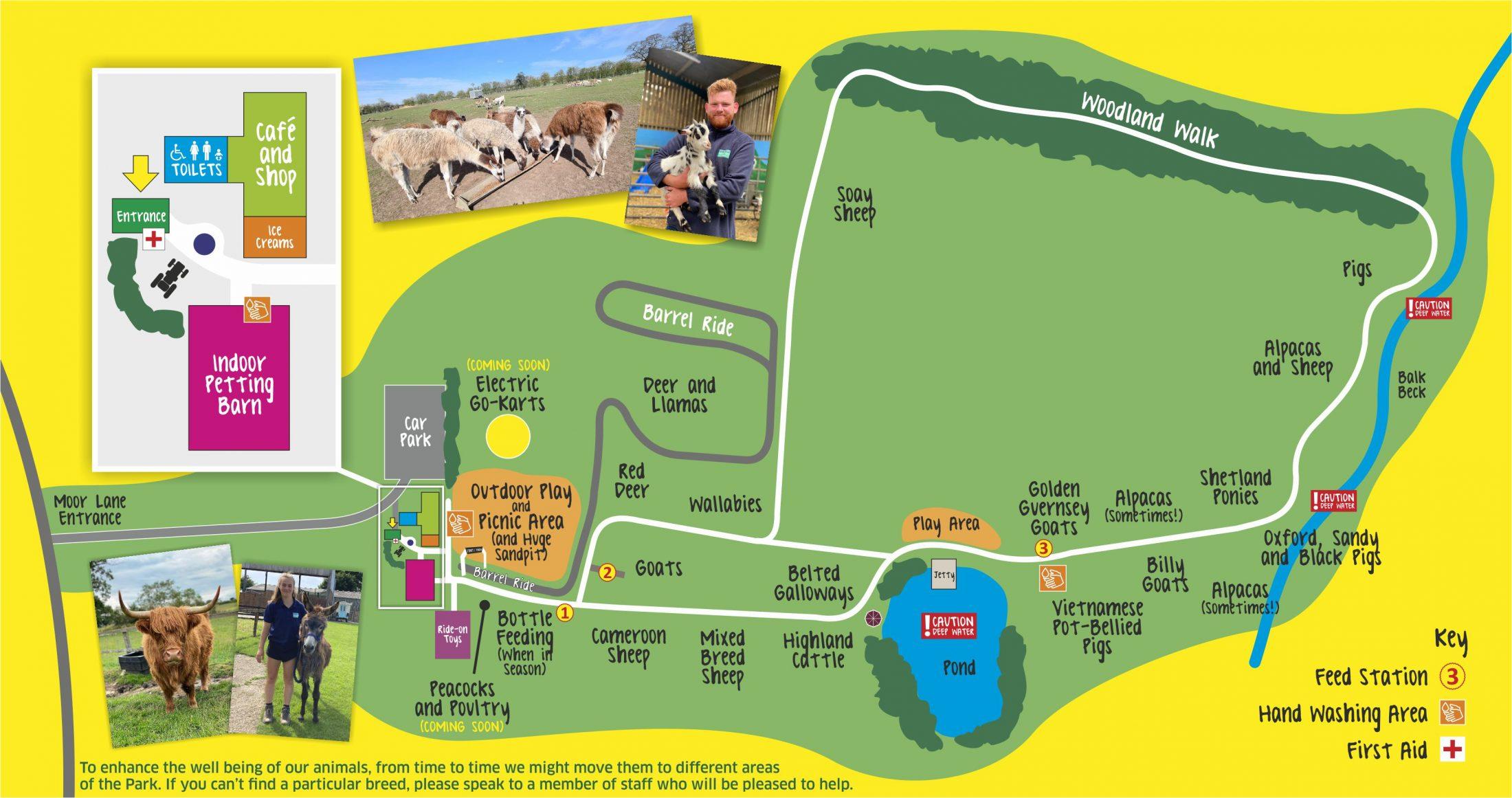 Monk Park Farm Map